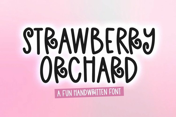 Web Font Strawberry Orchard - A Fun andwritten Font example image 1
