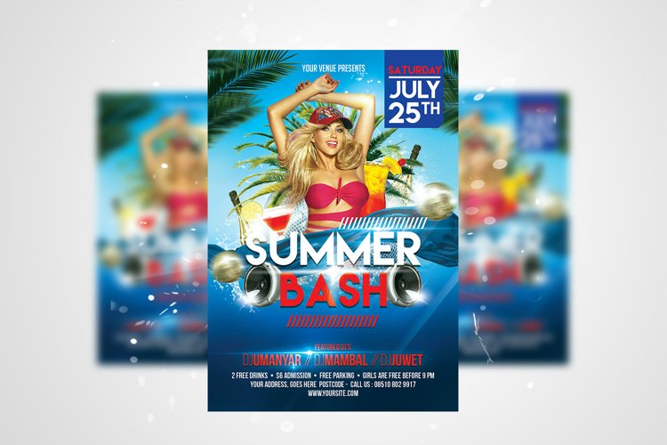 Summer Bash Flyer PSD Template example image 1
