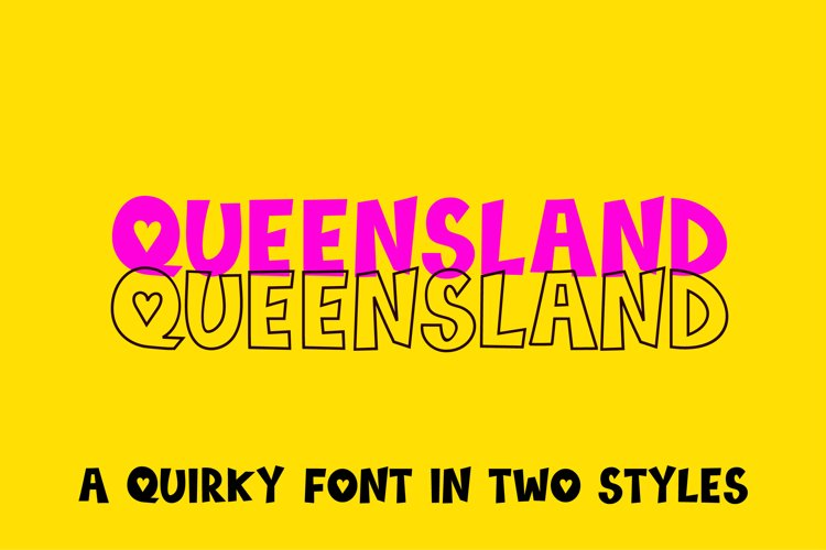 Queensland, a quirky handwritten font | two styles example image 1