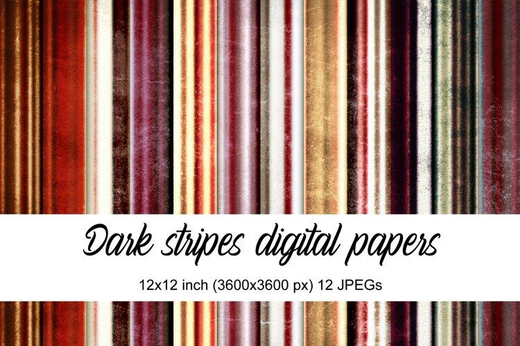 Dark stripes digital papers example