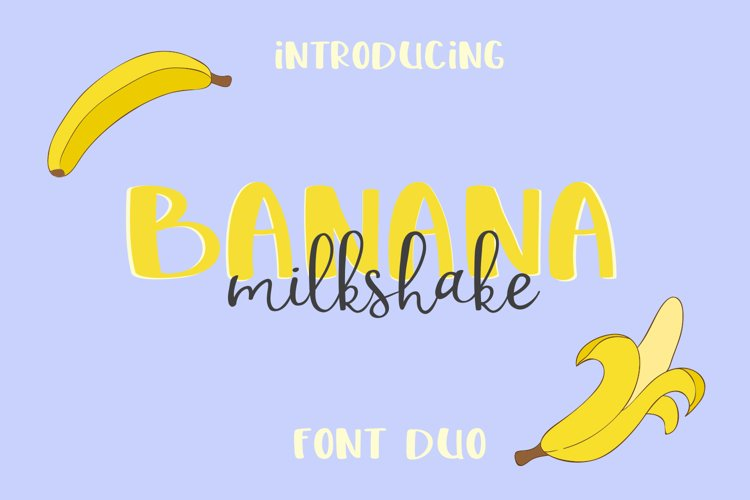 Banana Milshake Font Duo example image 1