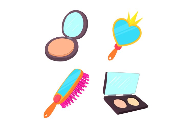Mirror icon set, cartoon style example image 1