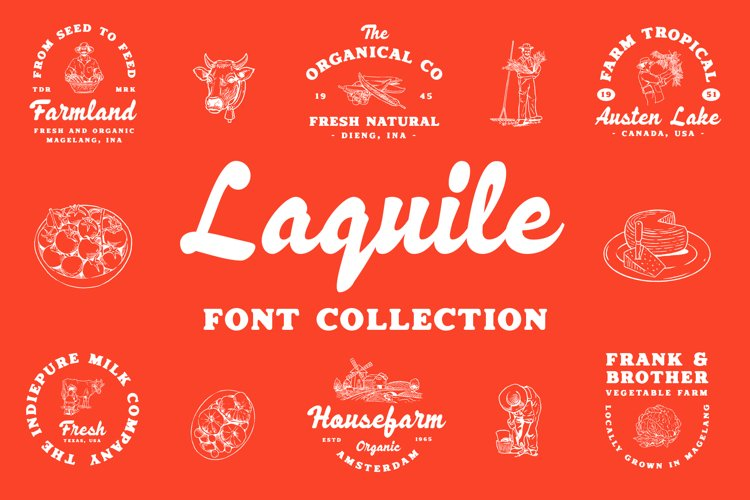 Laquile - Display Font example image 1