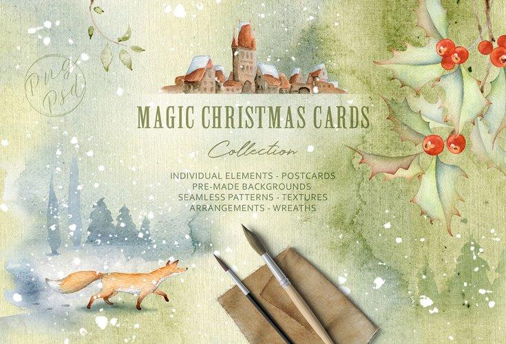 Magic Winter Watercolors. SALE! example image 1