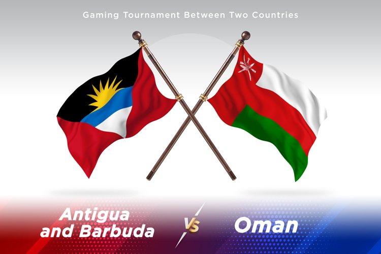 Antigua vs Oman Two Flags example image 1