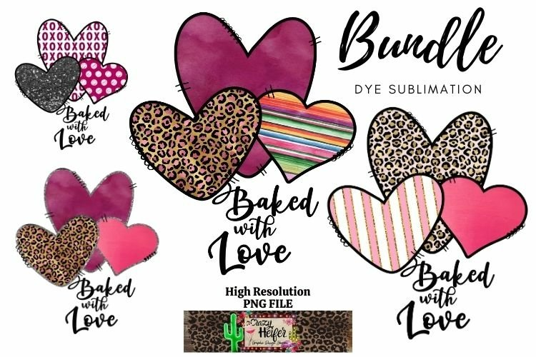 Baked with Love Valentine Kitchen Dye Sublimation example image 1