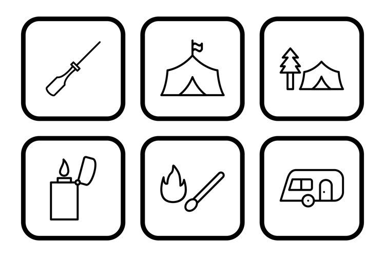 Set Of Camping Icons example image 1