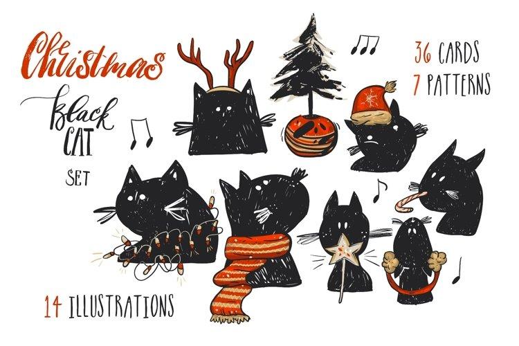 Christmas Black Cat example image 1