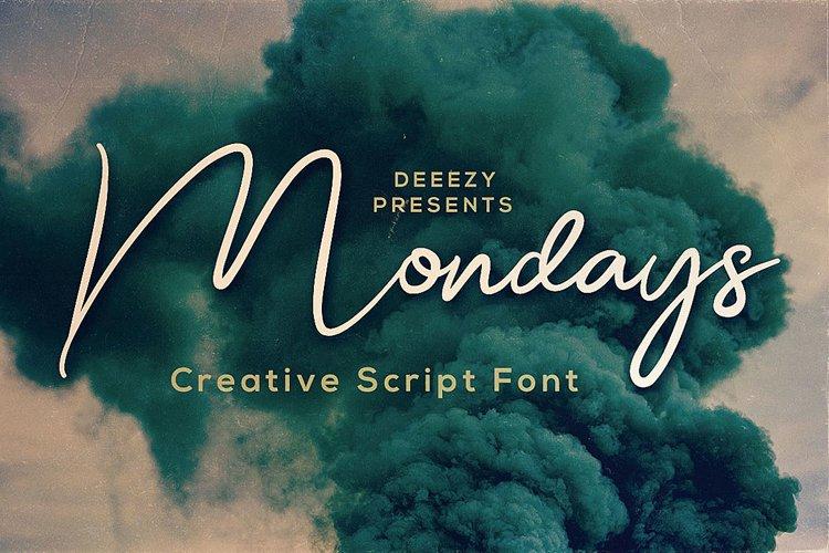 Mondays Script Font example image 1