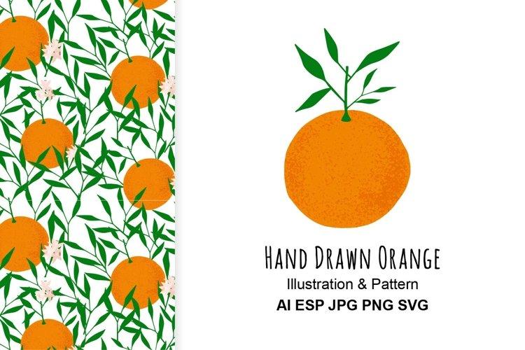 Orange illustration and pattern.