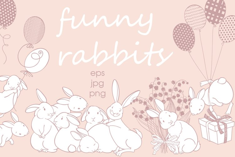 Funny rabbits. example image 1