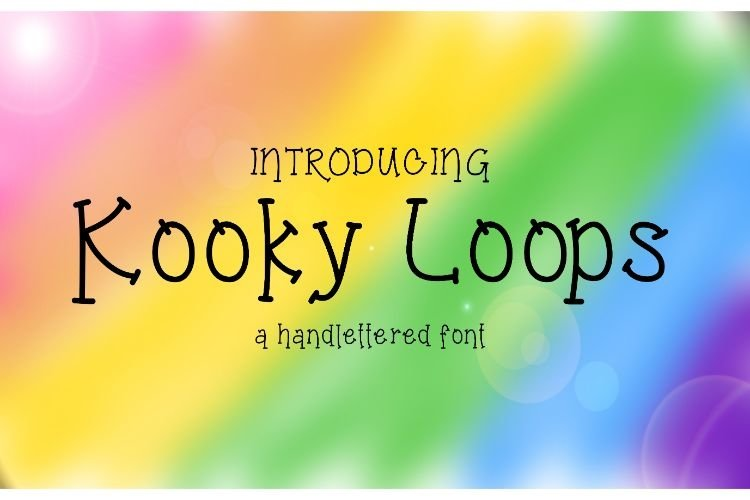 Kooky Loops Handlettered Font example image 1