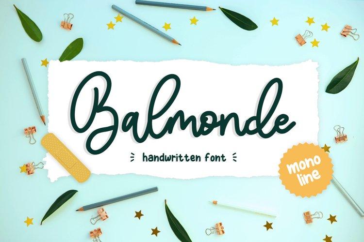 Balmonde Handwritten Font example image 1