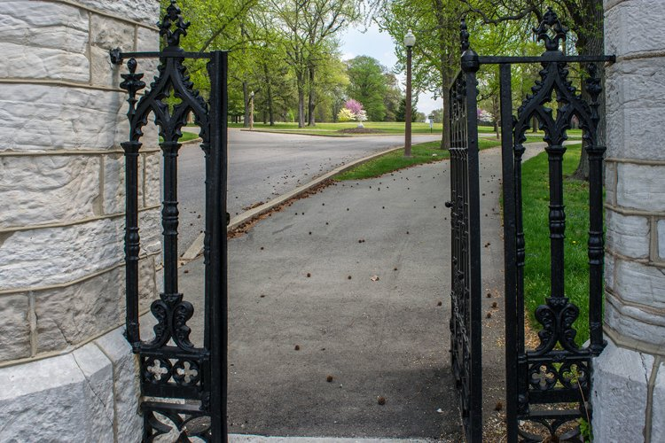 Beautiful wrought iron gate entrance at Tower Grove Park example image 1