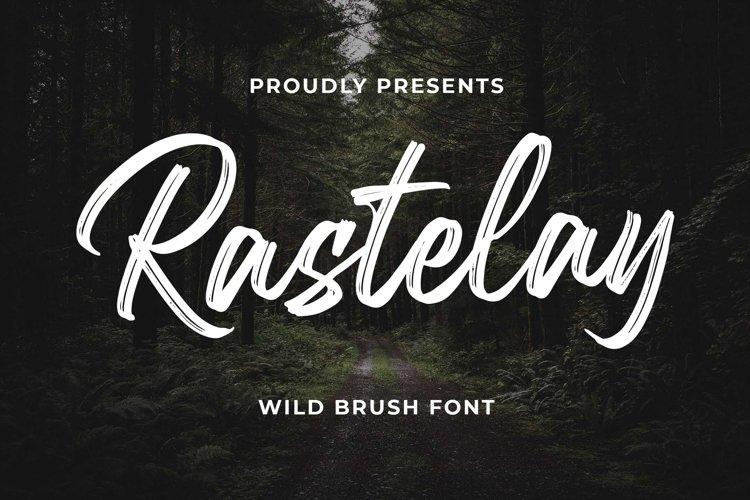 Rastelay Wild Brush Font example image 1