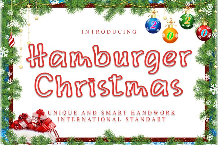 Hamburger Christmas example image 1