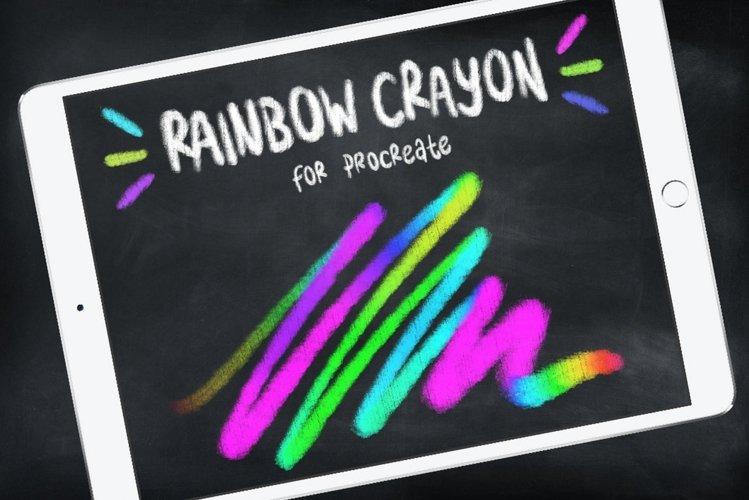 Procreate Brushes | Rainbow Brush, Rainbow Crayon