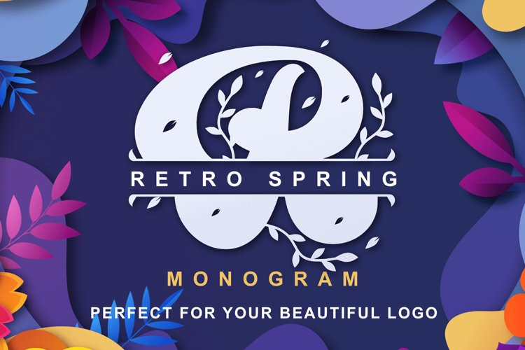 Retro Spring - Monogram example image 1