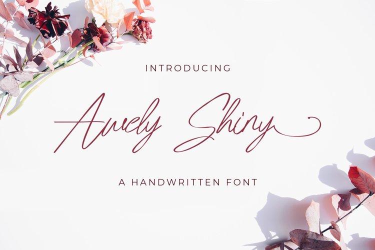 Awely Shiny - Handwritten Fon example image 1