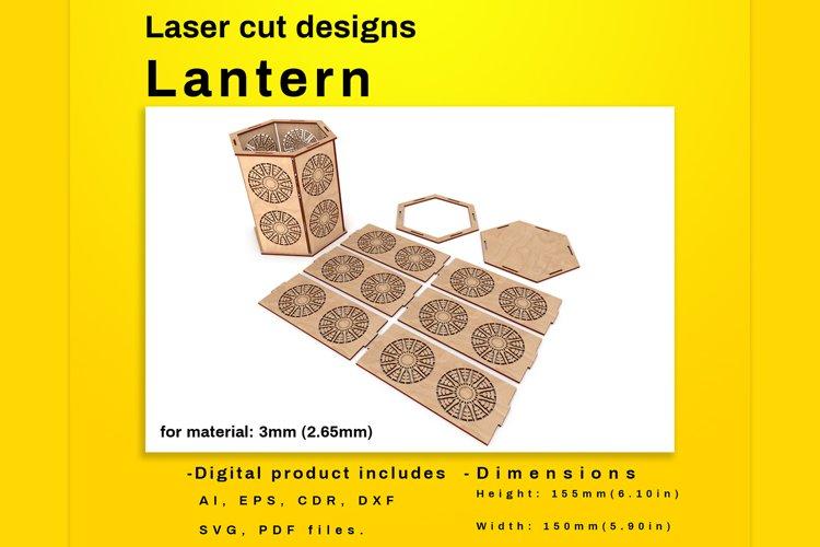 LANTERN - laser cut file example image 1