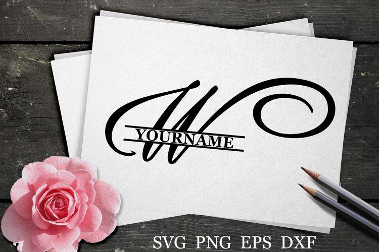 W Split monogram SVG Split letter svg Monogram font example image 1