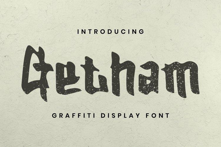 Web Font Getham Font example image 1