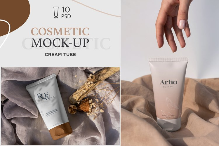 Cosmetic Tube Mock-Up's 10 PSD example image 1