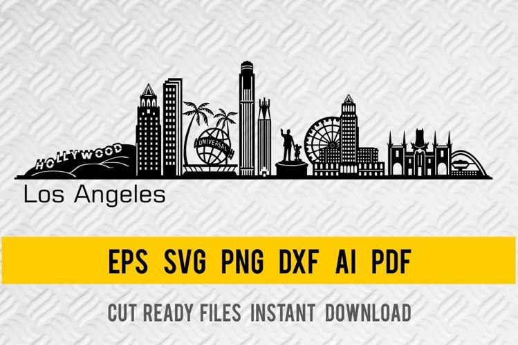 Los Angeles City Skyline SVG, State of California, Cut File example image 1