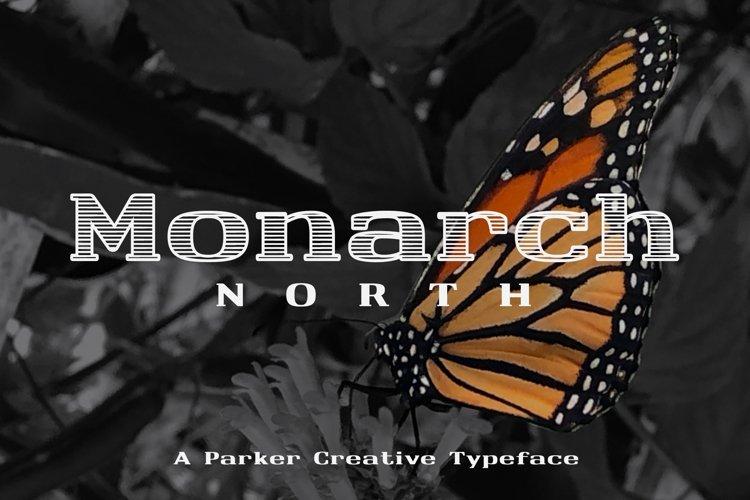 Horizontal Line Font | Monarch North