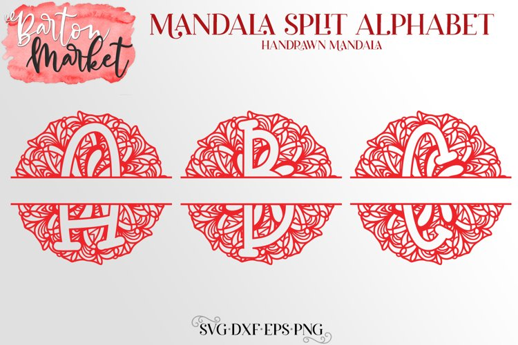 Mandala Split Letters Bundle for Crafters example