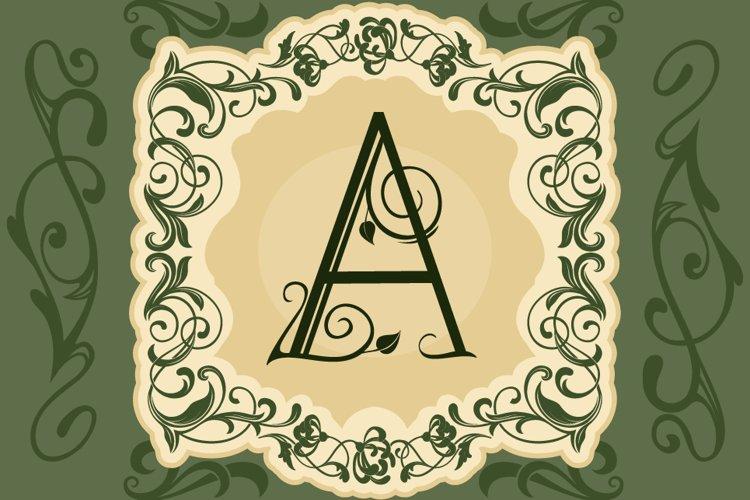 Leafy Monogram Font & Alphabet example 4