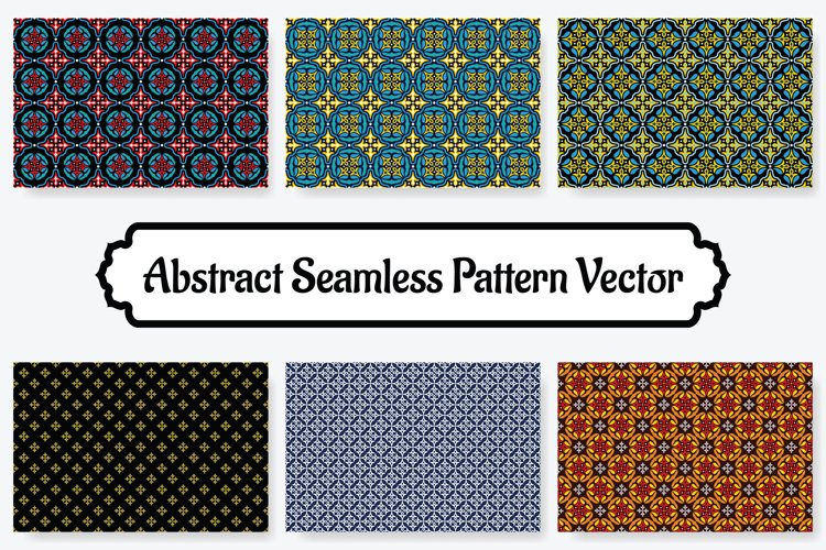 6 Collection Of Abstract Seamless Pattern Vol.6 example image 1