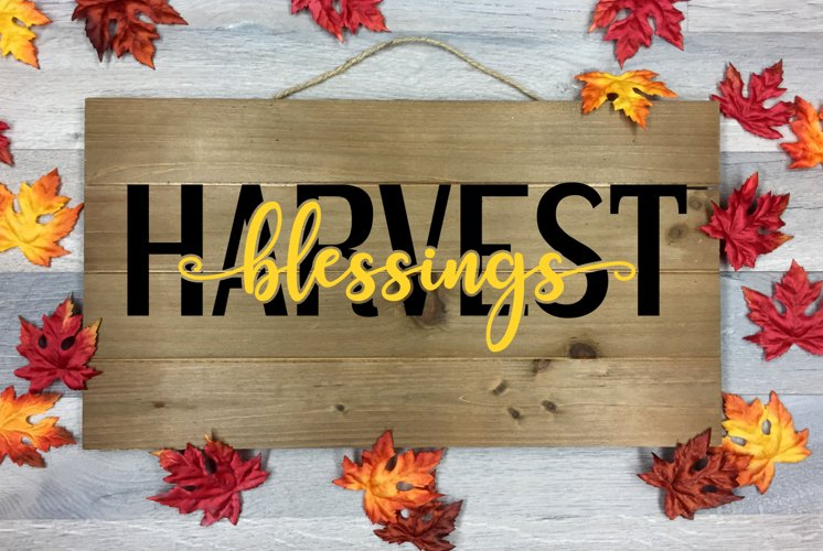 Harvest Blessings Cut File - SVG & PNG example image 1