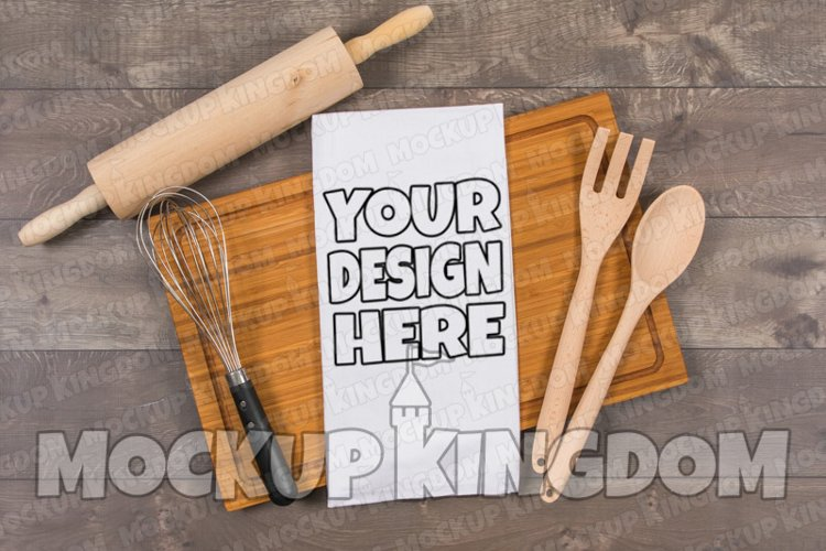Kitchen Towel Mockup, Flour Sack Towel Mockup, Blank Towel