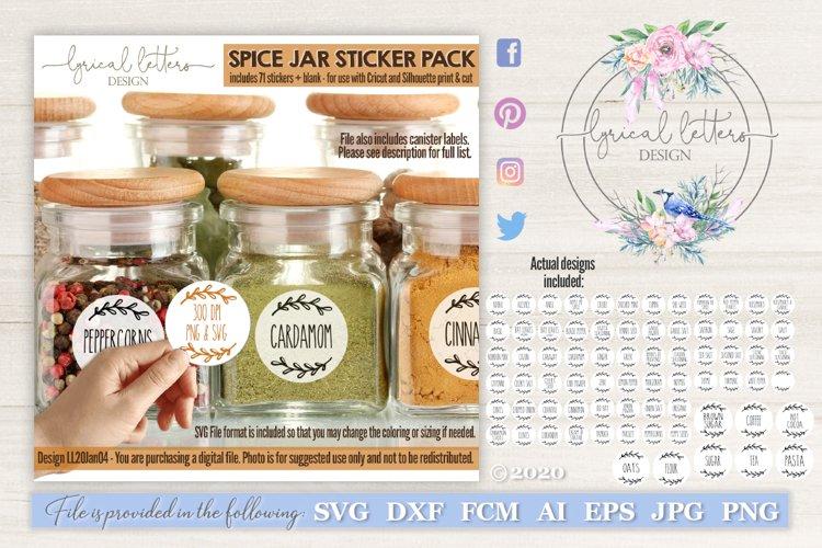 Sticker SVG Spice Jar and Canister Bundle LL20Jan04