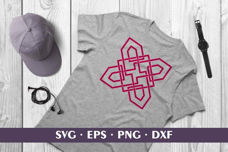 Pink Shamrock Celtic Knot Sublimation / Cut SVG DXF PNG EPS example image 1