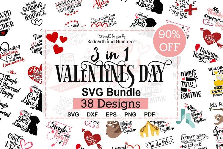 3 in 1 Valentines day quotes bundle SVG,quarantine love,anti