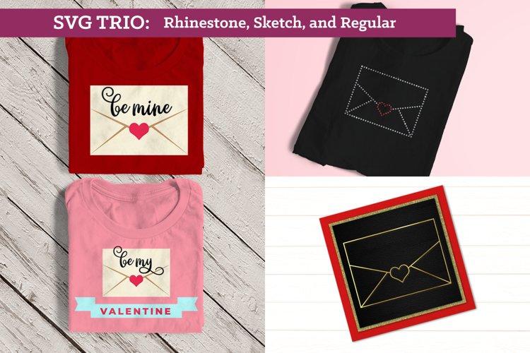 Love Letter SVG File TRIO Including Sketch & Rhinestone