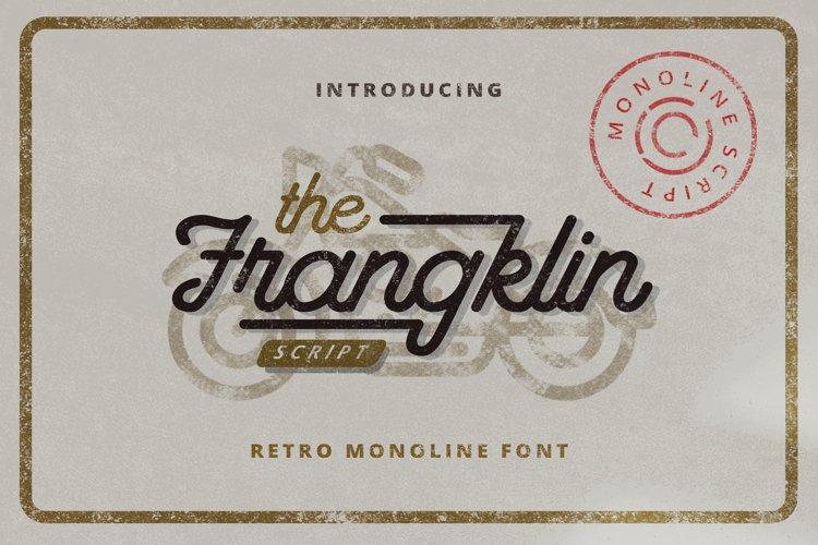 Franklin - Monoline Retro Script Font example image 1