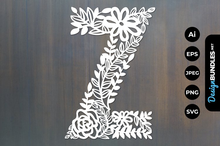 Floral Y Papercut example image 1