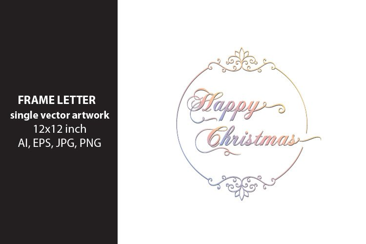 Happy Christmas - single vector artwork example image 1