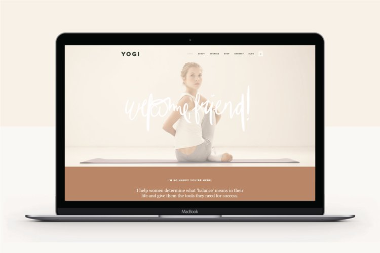 Wix Website Template | Yogi example image 1