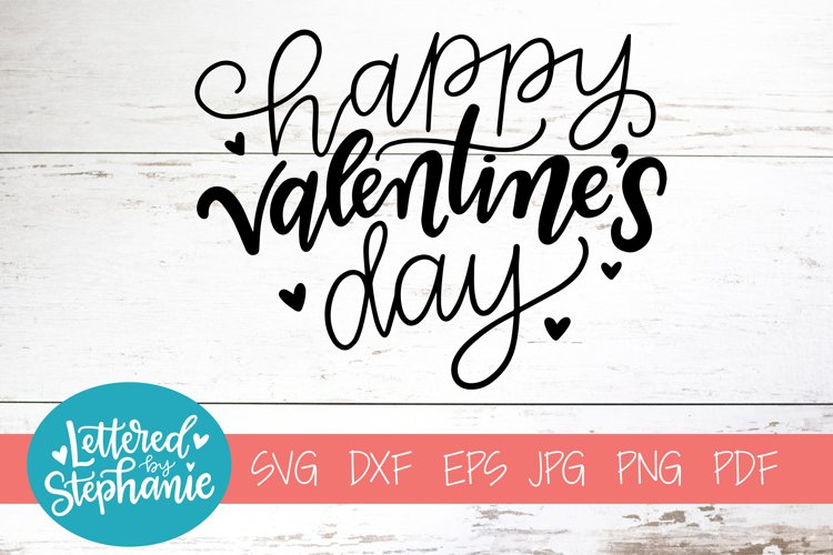 Handlettered SVG DXF, Happy Valentine's Day example image 1
