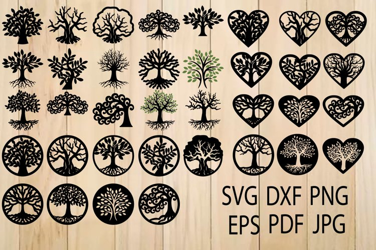 Tree of Life SVG, Trees, Tree Cut File, Tree SVG For Cutting example image 1