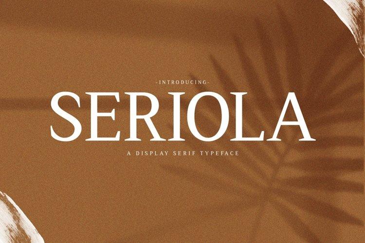 Web Font Seriola example image 1