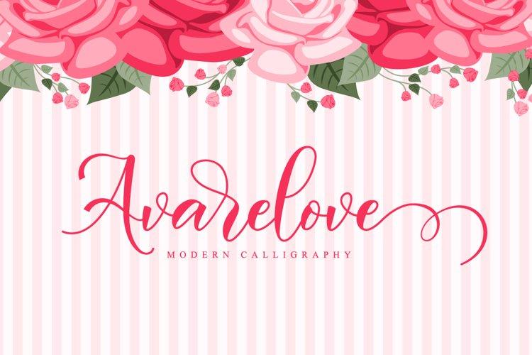 Avarelove // Lovely Script Font example image 1