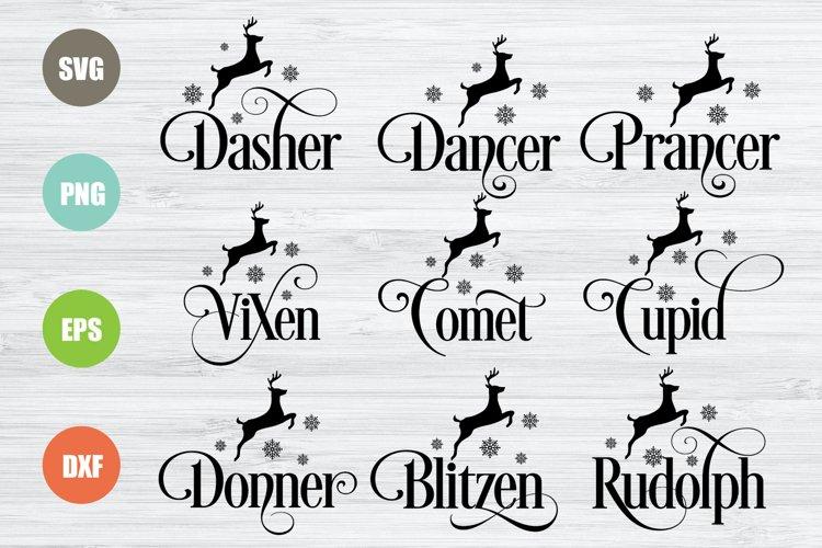 Reindeer Names SVG example image 1