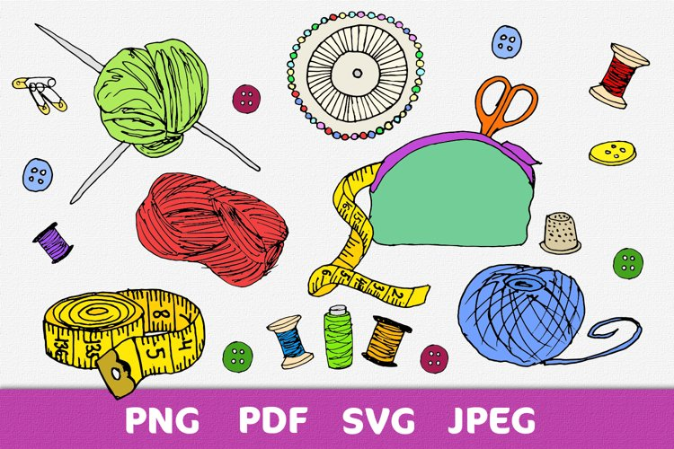 Sewing and knitting kit 15 elements
