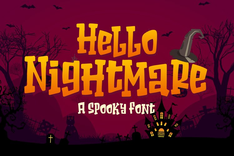 Hello Nightmare a Spooky Font example image 1
