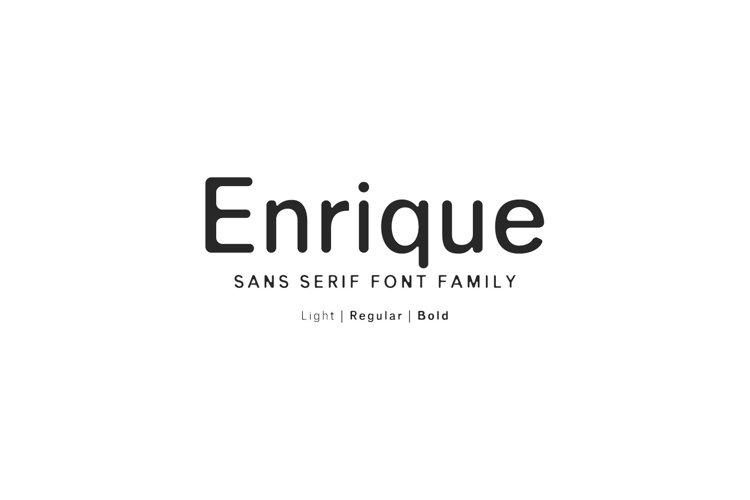 Enrique Sans Serif Font Family example image 1